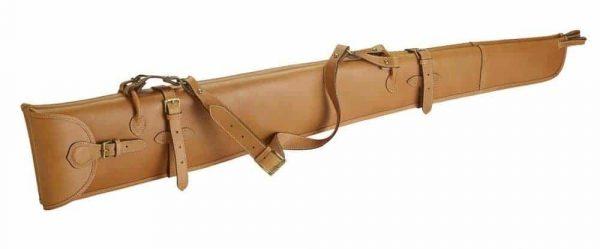 Fourreau paire fusil cuir Alexandre Mareuil