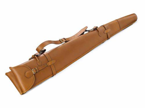 Round end gun slip, fur lined 2 shotguns