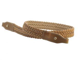 chasse - accessoires - 664 bretelle tressée - naturel.2