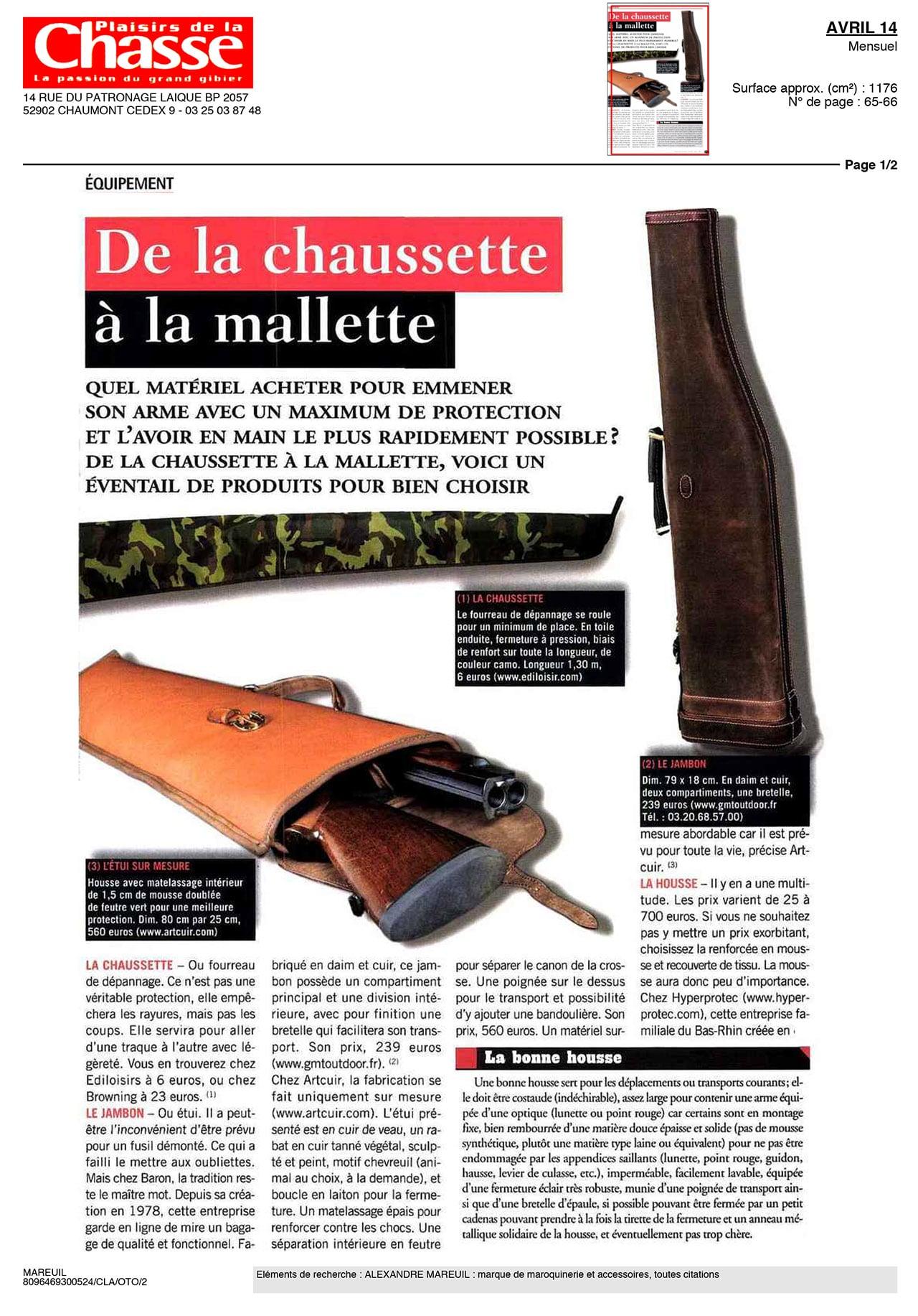 ALEXANDRE-MAREUIL-parutions-plaisir-de-la-chasse-avril-14-1-2