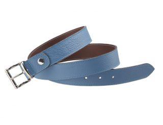 Maroquinerie - accesoires - 141.4 ceinture nikel - bleu + sauvage.1