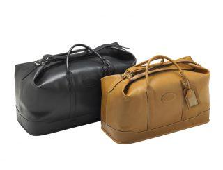 maroquinerie - sac de voyage - 91 polochon - noir + naturel