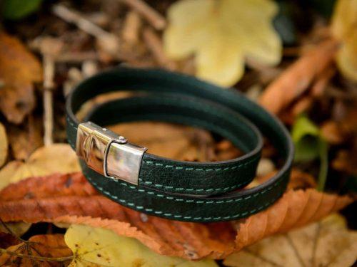 Bracelet en cuir de cerf 2 tours