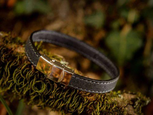 Bracelet en cuir de cerf 1 tour