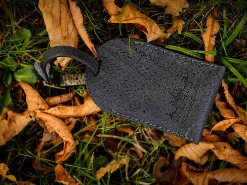 Porte-Etiquette en cuir de sanglier