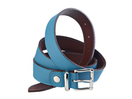 Adjustable belt in leahter 35 mm nickel buckle