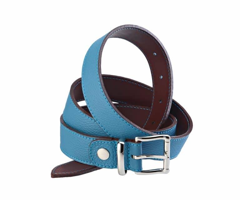 Adjustable belt in leahter 35 mm nickel buckle