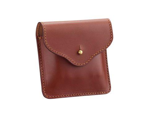 Pochette plate avec passant ceinture en cuir pour 5 balles