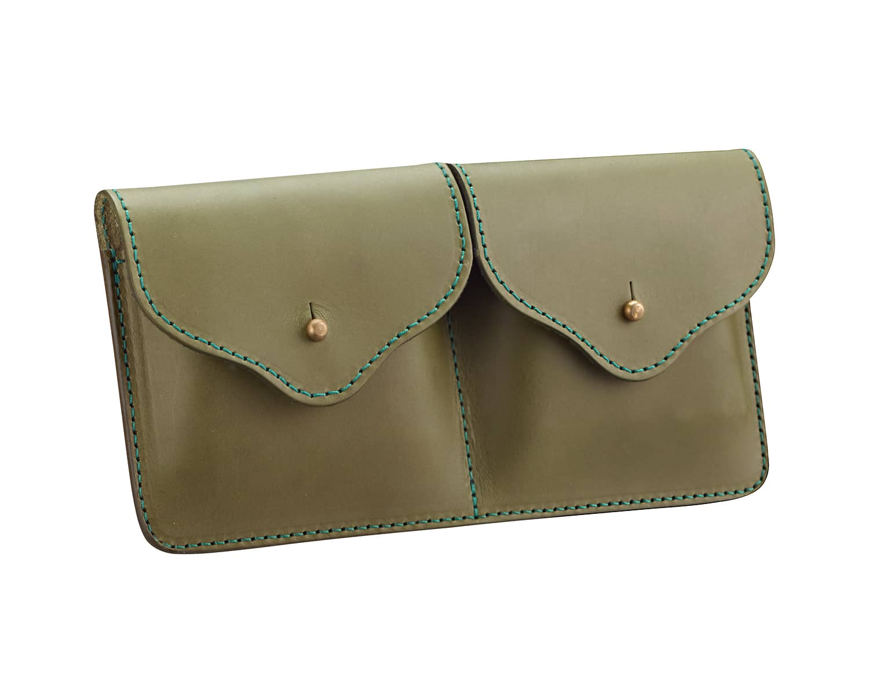 new lower prices super specials classic styles Pochette plate articulée avec passant ceinture en cuir pour ...