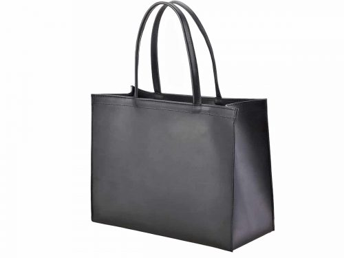 Horizontal Leather Paper bag