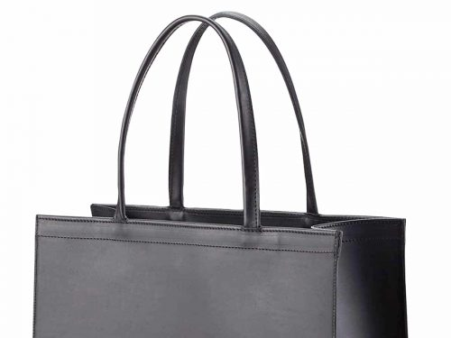 Vertical Leather Paper bag