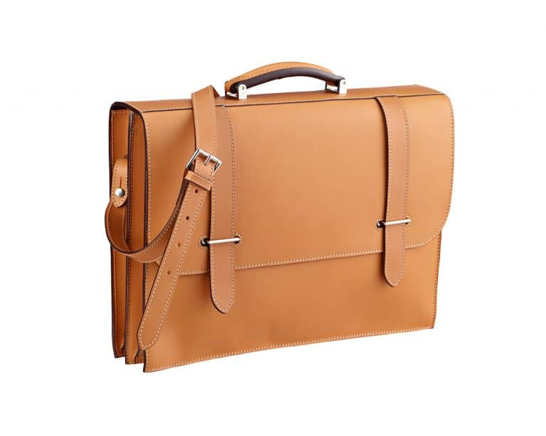 Traditional briefcase with hasps