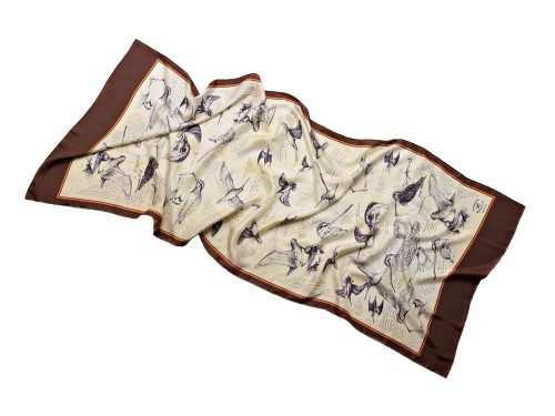 Long silk scarf-snipe