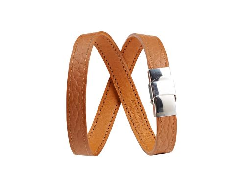 Leather straps double turn
