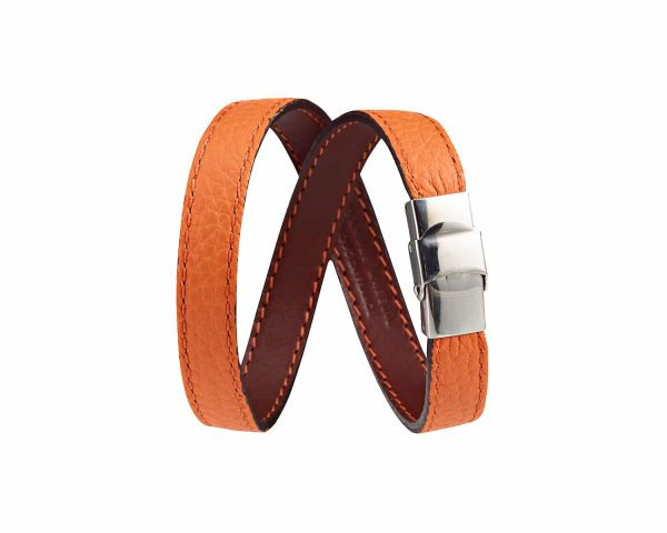 ref-781.1-alexandre-mareuil-bracelet-2-tours-taurillon-orange-sauvage