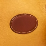 Taurillon Safran & Antique Sauvage ( Grained mustard yellow & Plain dark brown)