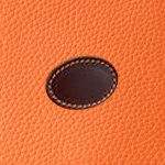 Taurillon Orange & Antique Sauvage (Grained Orange & Plain dark brown)