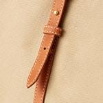 Beige canvas & Havana leather